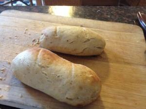 Vad som är kvar av gårdagskvällens rågbröd.